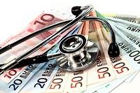 Stethoskop und Geld