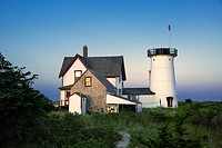 Stage Harbor Lighthouse, Chatham, Cape Cod, Massachusetts, USA  Also known as Harding's Beach Lighthouse  1880