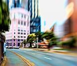 Street life _ illustrative, blurred image