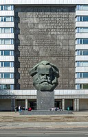 Karl Marx monument in Chemnitz, Saxony, Germany, Europe