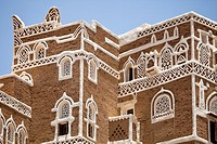 The Iman Palace Dar Al-Hajar in Wadi Dahr, outside the city of Sana'a, Yemen