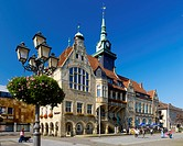 Town Hall on the Market Square, B&#195;&#188;ckeburg, Lower Saxony, Germany