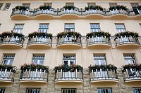 Facade with nice balconies