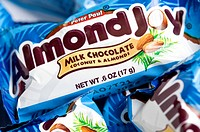 Almond Joy chocolate candy bars.