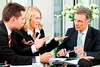 Business _ Besprechung in einem Büro