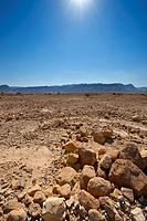Midday in Israel Desert