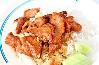Thai food fried pork
