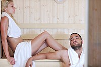 finland sauna warming up and healing in a spa wellness resort cabin