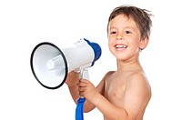 child with a megaphone
