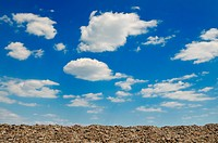 blue sky with white clouds at sunny day background
