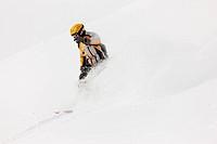 Snowboarder bei der Abfahrt
