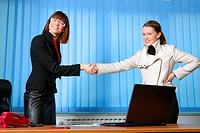 .businesswoman handshake