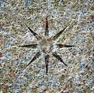 stone texture with a star