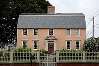 Oracle House at Strawbery Banke during the summer months. Located in Portsmouth, New Hampshire USA...
