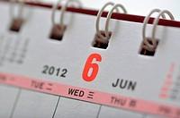 June of 2012 calendar