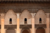 Student rooms in the Medersa ben Youssef, Marrakech, Morocco
