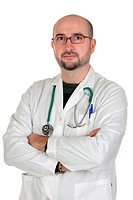 Doctor with medical gown isolated