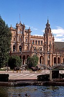 CARRIAGE RIDES are available at the PLAZA DE ESPANA which was built for the 1929 WORLD FAIR _ SEVILLA, SPAIN