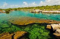 The Caleta Yaku lagoon, near Riviera Maya, Mexico