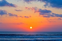 Indonesia, Bali, Kuta Beach, sunset