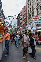 New York, NY, USA, Little Italy Neighborhood, San Gennaro Food Festival, Street Scenes, Italian Food Stalls on Mulberry St, Manhattan