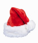 Red and white christmas santa hat, includes clipping path