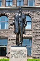 John Sandfield MacDonald Statue Legislative Assembly Queen´s Park Toronto Ontario Canada Capital City first prime minister of Ontario