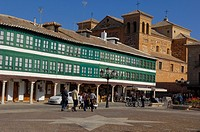 Plaza Mayor Main Square, Almagro, Ciudad Real province, Route of Don Quixote, Castilla-La Mancha, Spain, Europe.