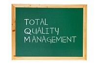 Total Quality Management on White Background