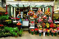 Ramblas of Barcelona Spain  Souvenirs and flowers kiosks
