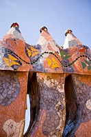 Casa Batllo by Gaudi in Barcelona Spain, Europe
