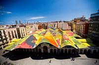 Mercat Santa Caterina by Miralles in Barcelona  Market in Ciutat Vella Barcelona, Spain