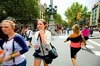 Ramblas of Barcelona Spain