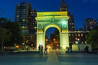 New York City, NY, USA, Street Scenes, Greenwich Village, Night , Washington Square Park, Arch