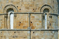 Detail of Santa Cruz collegiate, in Socobio, Castañeda  It is considered as one of the most important romanesque churches of Cantabria and declarated ...