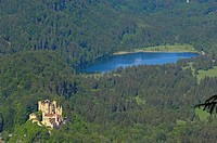 Hohenschwangau Castle, Allgau, Fussen, Romantic Road, Bavaria, Germany, Europe