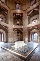 India, Delhi, View of Tomb of Humayun