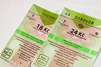 New valued tickets for municipal public transport in Prague, capitol of Czech Republic CTK Photobank/Martin Sterba