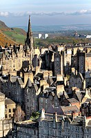 View of city from Scott Monument, Edinburgh, Scotland, UK