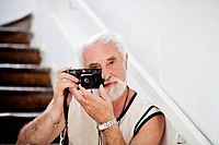 Famous Czech photographer Jindrich Streit is pictured on August, 25 in his home in Sovinec, Czech Republic CTK Photo/Josef Horazny, Martin Sterba