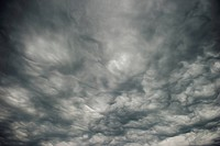 Mammatocumulus clouds
