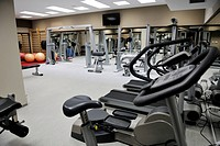 sport center fitness gym indoor with equipment