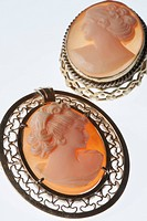 VIntage, hand crafted cameo brooches