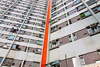 Packed Hong Kong public housing