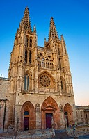 Gothic Cathedral. Camino de Santiago The way of St. James. Burgos. Castilla y Leon. Spain.