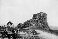 europa, italia, sicilia, mussomeli, veduta del castello, 1910 1920