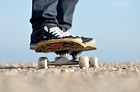 close up of a skate board