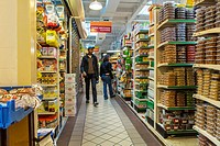 New York City, NY, USA, People Food Shopping inside Essex Street Market, Lower East Side