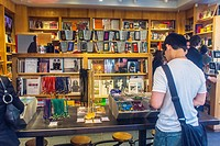 New York City, NY, USA, Shopping in Greenwich Village Area, Book Store, 'BookMarc' on Bleecker St , Manhattan