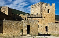 Monastery Castle Loarre - Romanesque Style - Huesca province - Hoya de Huesca - Aragon - Spain - Europe